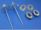 Lacing Turnbutton Assembly, Zinc on Mild Steel Quilting Pin: CEVaC IF5341