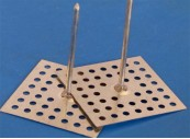 Perforated Base Hanger, Steel, 42mm pin GSP-42B complete with washer: CEVaC IF5100