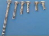 Pigtail Screw Spiral; Galvanised sprung steel wire 1.6mm diameter, 40mm: CEVaC IF5801