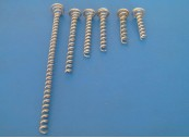 Pigtail Screw Spiral; Galvanised sprung steel wire 1.6mm diameter, 40mm: CEVaC IF5801