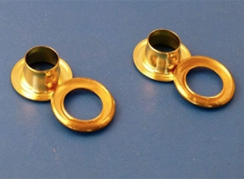 Brass Eyelets complete with Washer, nom. 20mm diameter: CEVaC IF5410