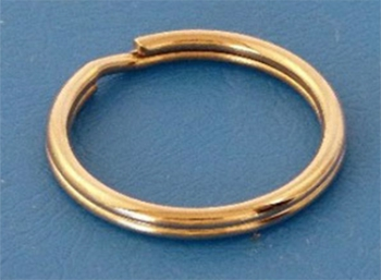 Key Ring (Split) 25mm diameter, Mild Steel Bright Zinc Plate for use on lacing anchors: CEVaC IF5490